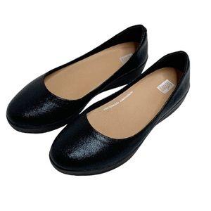 FitFlop Superballerina Black Glitzy Ballet Flats